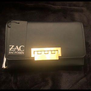 Zac Posen Eartha black wallet on a chain